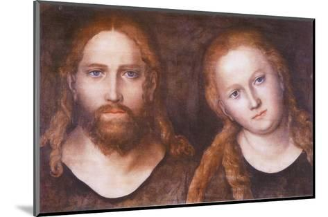 Christ and Mary , 1516–20-Lucas Cranach the Elder-Mounted Art Print