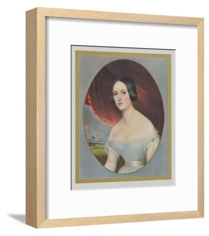 Portrait : Comtesse D'Orsay- Kobel-Framed Art Print
