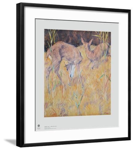 Deer in the Reed-Franz Marc-Framed Art Print