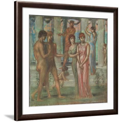 The Wooing-Hans Marées-Framed Art Print