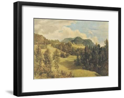 Landscape near Miesenbach-Friedrich Gauermann-Framed Art Print