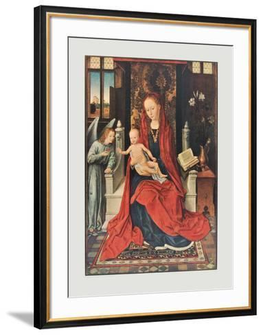 The Virgin and Child Enthroned-Hans Memling-Framed Art Print