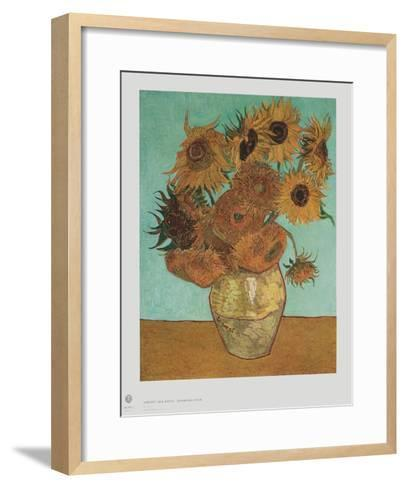 Sunflowers-Vincent van Gogh-Framed Art Print