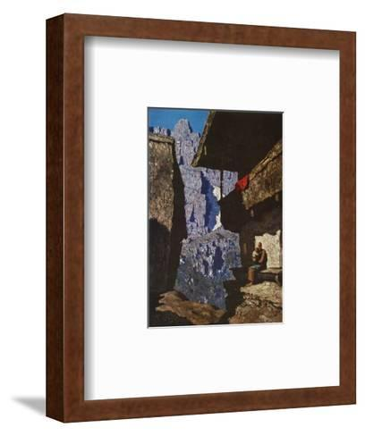 Houses in Loneliness-Alfons Walde-Framed Art Print