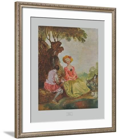 Pastoral-Antoine Watteau-Framed Art Print
