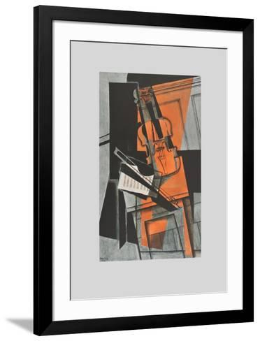 The Violin (on Handmade Paper)-Juan Gris-Framed Art Print
