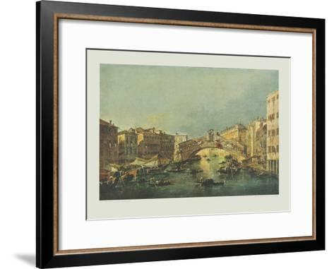Canale Grande and Rialto-bridge, Venice-Francesco Guardi-Framed Art Print