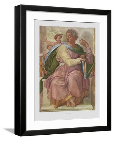 The Prophet Jesaias-Michelangelo Buonarroti-Framed Art Print