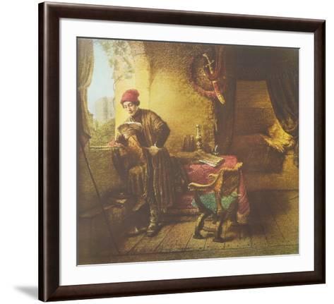 The Student-Rembrandt van Rijn-Framed Art Print