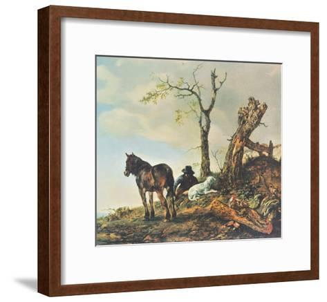 Landscape with Figures-Philips Wouwerman-Framed Art Print