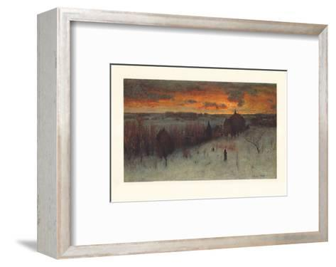Landscape at Dawn-George Inness-Framed Art Print