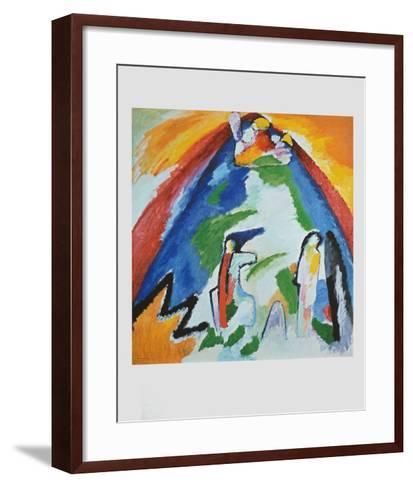 Mountain , 1909-Wassily Kandinsky-Framed Art Print