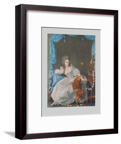 Lady with Dog and Birdcage-Thomas Gainsborough-Framed Art Print