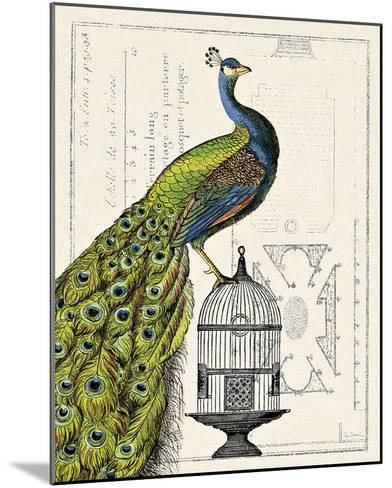 Peacock Birdcage I-Sue Schlabach-Mounted Art Print