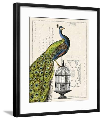Peacock Birdcage I-Sue Schlabach-Framed Art Print