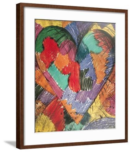 Heart-Jim Dine-Framed Art Print