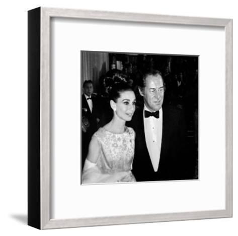 Audrey Hepburn and Rex Harrison-Frank Worth-Framed Art Print