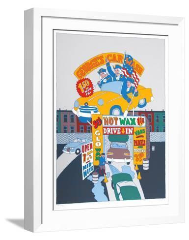 George's Car Wash-Seymour Chwast-Framed Art Print
