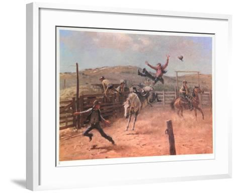 Meanwhile Back at the Ranch-Duane Bryers-Framed Art Print