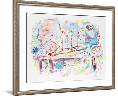 Harbor Boats-Wayne Ensrud-Framed Art Print