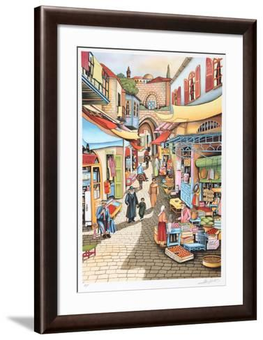 Old Jerusalem Market-Ari Gradus-Framed Art Print