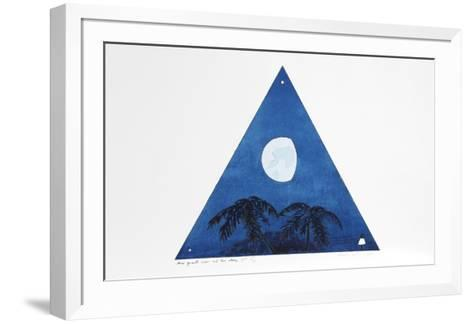 Three Quarter Moon-Two Evening Stars-Bill Beckley-Framed Art Print