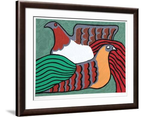 Hens-Victor Delfin-Framed Art Print
