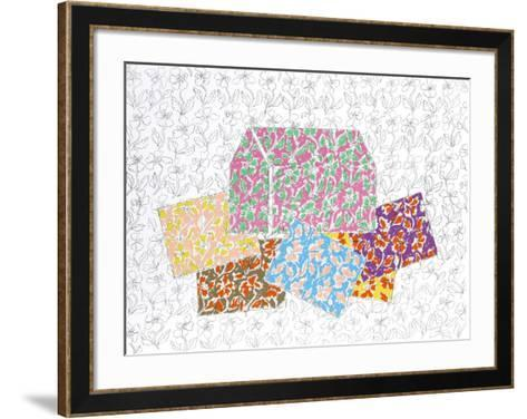 Red House with Cards-George Chemeche-Framed Art Print