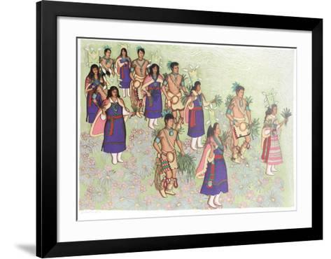 Harvest dancers-Alice Asmar-Framed Art Print