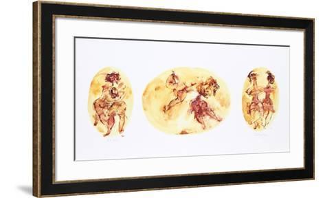 Group of Ballet Dancers-Chaim Gross-Framed Art Print