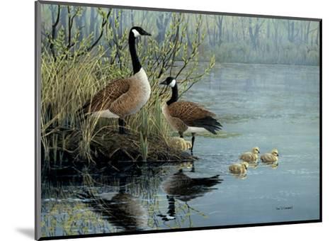 Geese In Spring-Don Li-Leger-Mounted Art Print