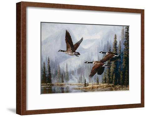 Misty Morning Flight-Andrew Kiss-Framed Art Print