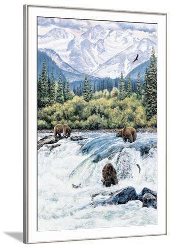 Brown Bear- Expectations-Andrew Kiss-Framed Art Print