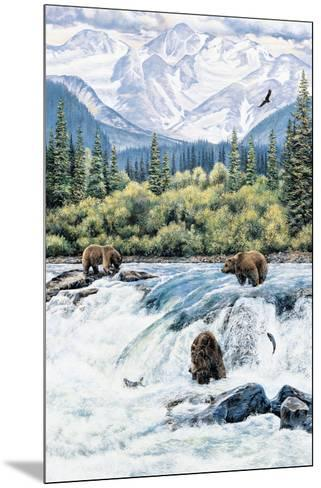 Brown Bear- Expectations-Andrew Kiss-Mounted Art Print