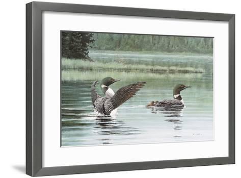 Loon Family-Don Li-Leger-Framed Art Print
