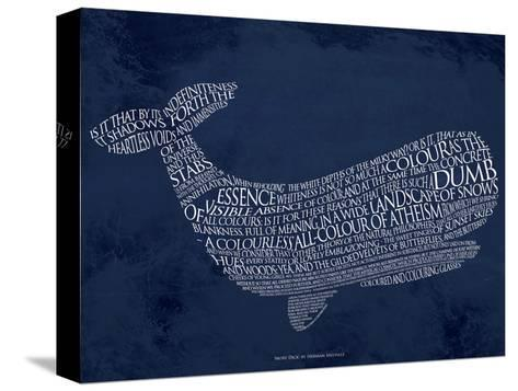 Moby Dick--Stretched Canvas Print
