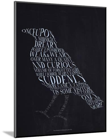 The Raven--Mounted Art Print