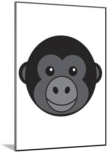 Gorilla--Mounted Art Print