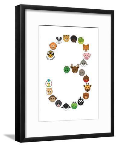 Three--Framed Art Print