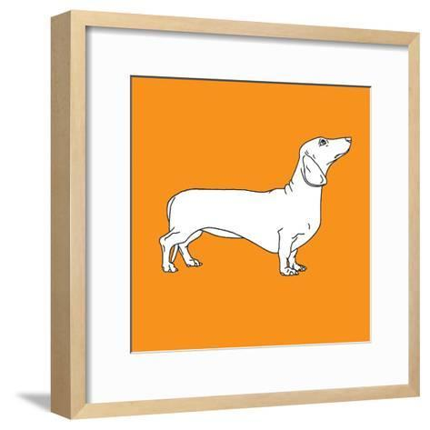 Daschund-Anna Nyberg-Framed Art Print