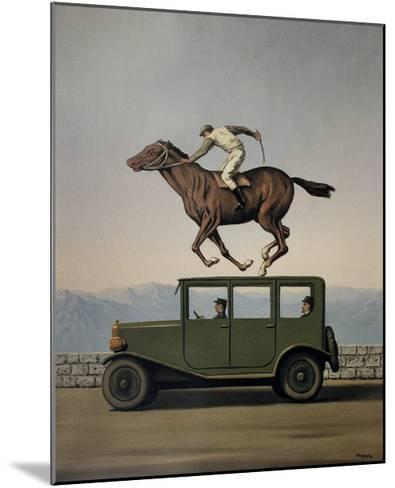 La Colere des Dieux-Rene Magritte-Mounted Art Print