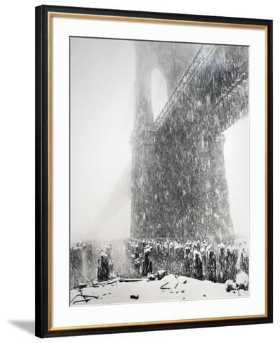 Brooklyn Bridge-Joel Greenberg-Framed Art Print