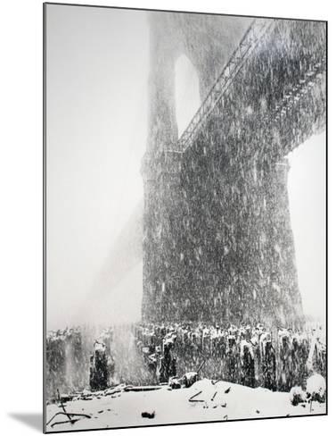 Brooklyn Bridge-Joel Greenberg-Mounted Collectable Print