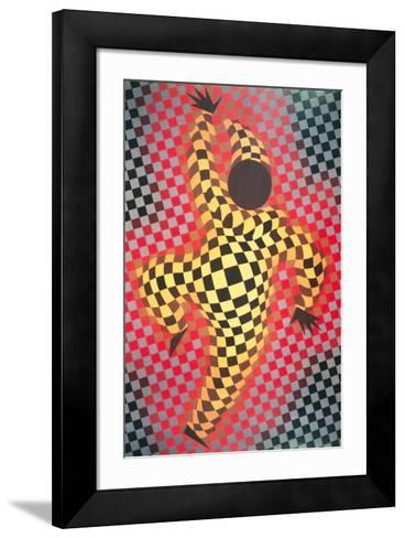 Clown (Red)-Victor Vasarely-Framed Art Print