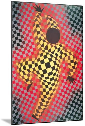 Clown (Red)-Victor Vasarely-Mounted Collectable Print