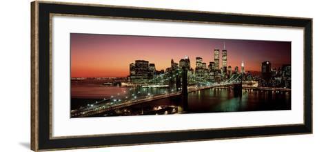 Brooklyn Bridge, NYC-Richard Berenholtz-Framed Art Print