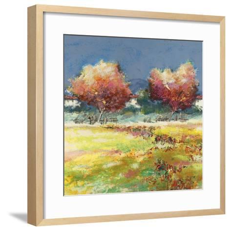 Alberi nel prato-Luigi Florio-Framed Art Print