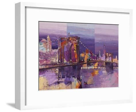 Brooklyn Bridge-Luigi Florio-Framed Art Print