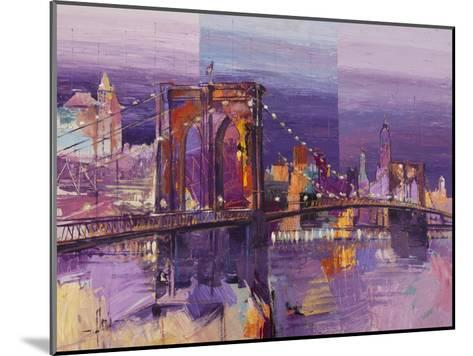Brooklyn Bridge-Luigi Florio-Mounted Art Print