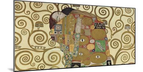 The Embrace (detail)-Gustav Klimt-Mounted Art Print